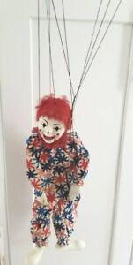 Vintage SUZYBELL THE CLOWN Marionette Hazelle's Original Box W/ Paper
