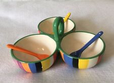 Avon Trio 3 Serving Bowl With Spoons Multicolored Set By Avon Honor Society