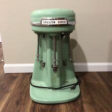 Vintage Hamilton Beach Milkshake Mixer 3 Triple Head Model 940 Jadeite Green USA