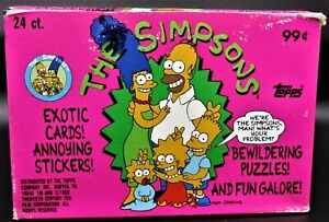 SIMPSONS TOPPS CARDS1990 20 Mint packsrare jumbo version has twiCE as many cards