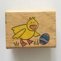 Chick Easter Egg Rubber Stamp Canadian Maple Collections Spring Holiday Wood Mtd