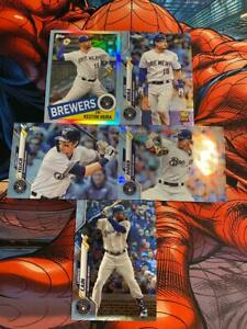TOPPS CHROME baseball BREWERS LOT inc KESTON HIURA 35TH ANNIV PARALLEL SILVER