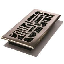 Floor Register Vent Air-Duct Cover Home Bathroom Kitchen Louvered Art-Deco 4x10