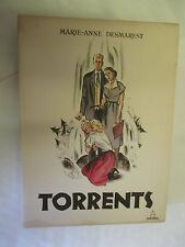 """Marie-Anne Desmarest """"Torrents"""" illustré par Pouzet TL & Numéroté /Panthéon 1950"""