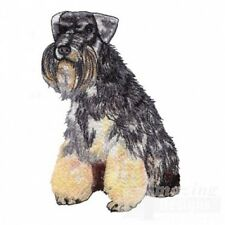 Large Embroidered Zippered Tote - Miniature Schnauzer Ad015