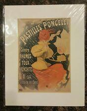"CHERET JULES - PASTILLES PONCELET - ART PRINT POSTER 11"" X 14"" BRAND NEW SEALED"