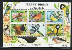 Jersey Sc 1264a 2007 Garden Birds stamp sheet mint NH