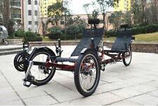 ZZMerck 48v/500w 3 Wheel Tandem Recumbent Electric Bicycle Ebike NEW