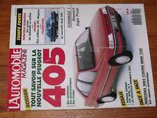 $$$ Revue L'automobile N°492 Peugeot 405Honda LegendMercedes 300EProst