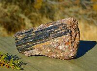Black Tourmaline Schorl Crystal 284g Large Rough Specimen With Pink Silver Mica