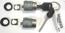 NEW GM OEM Pair Chrome Door Lock Cylinder W/2 OEM LOGO KEYS- 702674 X2 + 596222