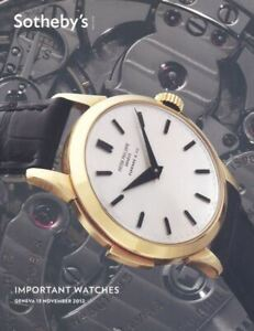 Sotheby's Catalogue Geneva, Important Watches 13 November 2012 HB