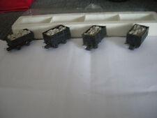 Roco 34506 4 Stück Lorenwagen mit Verschlagaufsatz Spur H0e OVP