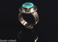Traditioneller Tibetischer Türkis Ring tibetan turquoise ring neusilber  Nr.2