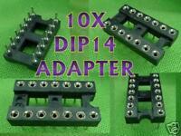 10X 14 Round PIN DIP DIP14 IC Socket Adapter Hi Quality