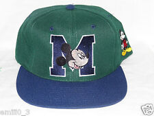 NEW WITH TAGS MICKEY MOUSE UNLIIMITED VINTAGE 90'S SNAPBACK CAP GREEN/BLUE