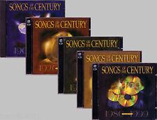 Songs Century 9CD Lot Classic Greatest Pop 1900-1999 DAVID HAMILTON 50S BAND