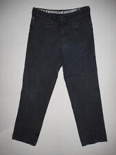 AJ Armani Mens Navy Linen Jeans  W34 L33