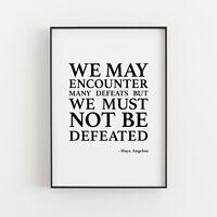 Inspirational Quote 8x10 Print Framed Maya Angelou Autograph Replica Print