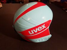 NEW Uvex Children Ski Helmet Jump Race Light Blue/Red Medium M 57-58 CM