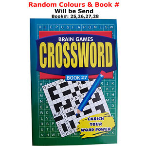 Collection of Brain Games Crossword Puzzle Book ( Book Numbers 25,26,27,28 )
