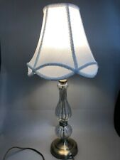 Dar lighting MABEL Table Lamp Antique Brass & Glass complete with white Shade