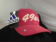VINTAGE 90's SAN FRANCISCO 49ers NFL TRAINING CAMP RED BASEBALL HAT FREE 2 PINS