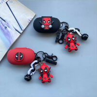 For Samsung Galaxy Buds Buds+ Buds Live / Pro Full Case Deadpool Cover Key Chain