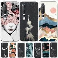 For Xiaomi Mi 10 9T Note 10 Pro Lite Soft Rubber TPU Pattern Phone Case Cover
