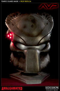 SIDESHOW TEMPLE GUARD PREDATOR LIFE SIZE MASK STATUE LIFE 1:1 SIZE Prop Replica