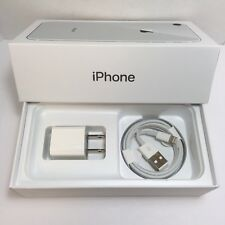 IPHONE 8/7 EMPTY RETAIL BOX AND NEW ACCESSORIES plug charger manual sim