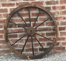 More details for ornamental wooden garden cart wagon wheel wood cartwheel large 90cm diameter