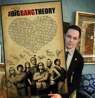The Big Bang Theory Song by Barenaked Ladies Lyric Song Signed Poster(No Framed