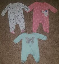 Infant Baby Girl Carters 3 Months Sleeper Lot Months