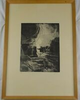 Vinatge Original Mid-Century Modern Abstract Lithograph by Unknown Artist