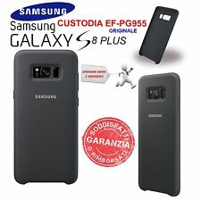 Custodia Cover Back silicone nero Originale Samsung per Galaxy S8 PLUS SM-G955