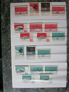 Russia - 18 different matchbox labels - Air, Space & Car themes - dated 1960
