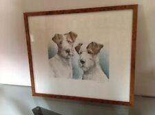 Eau forte :  Fox terriers