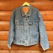 Levis Vintage 90s XL Denim Trucker Jacket 70598 4891 USA Men Cotton Red Tab