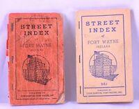 Vintage Lot of 2 Street Index of Fort Wayne, Indiana, Pubished by Leon Dorton