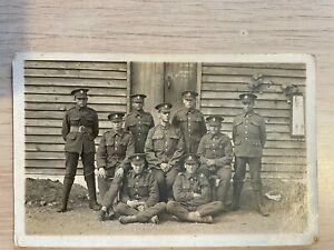 Postcard soldier group Loyal North Lancashire regiment