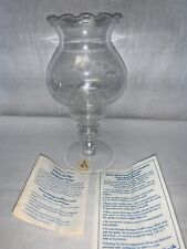 Vintage Princess House Heritage Crystal Candle Lamp Holder Centerpiece NIB #410