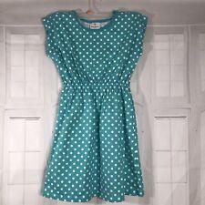 Hanna Andersson Girls Dress Sz 150 12 Cotton Green Sundress Spring Summer