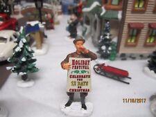 "TRAIN GARDEN VILLAGE HOUSE CARNIVAL "" CORNER ANNOUNCER ""  +DEPT 56/LEMAX info"