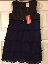 NWT GYMBOREE-Sz 5-Holiday Classics Navy & Black Layered Ruffled Dress-Christmas