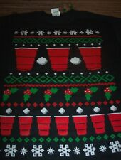Holiday Party Men's Christmas Red Cup Beer Pong T-shirt Black Sz 2xl