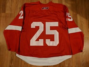 Darren McCarty Exhibition Game Worn Jersey Name on Back Removed Photo Matched