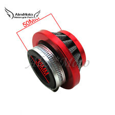 Red 35mm Air Filter Cleaner For Honda XR CRF Dirt Pit Bike TRX ATC ATV 50 70 90