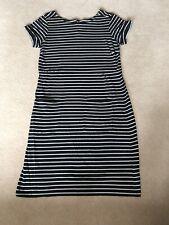 WHITE STUFF Knee Length T-shirt Dress Size 14 Navy/White Stripe