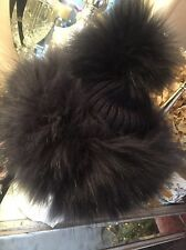 ❤️ JAYLEY FABULOUS CASHMERE  FOX FUR BEANIE Ski HAT THICK FOX TRIM  ❤️Navy Blue